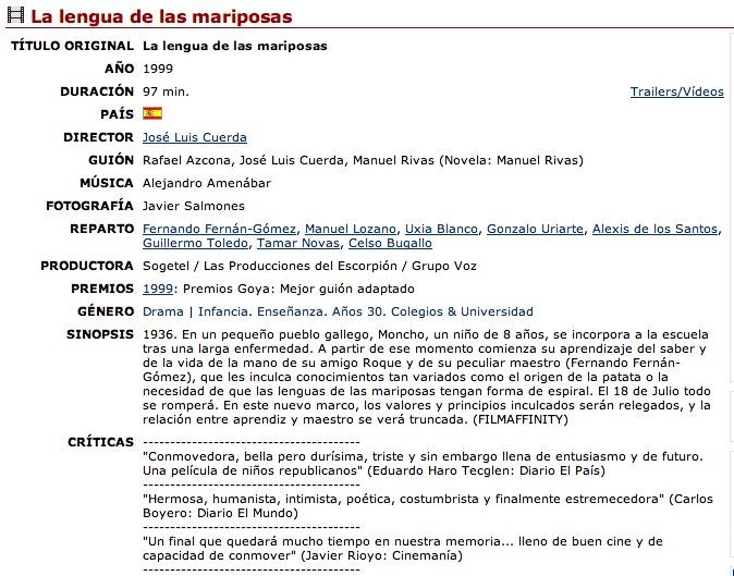 Taller de cine español B1 15