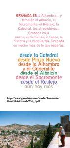 La Alhambra y Granada: Cultura, gramática, historia, belleza, poesía, etc. 8